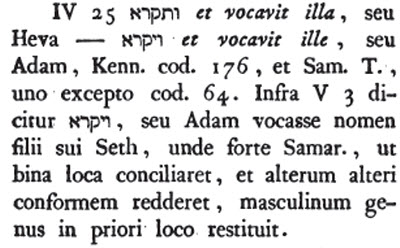 De Rossi Gen 4:25